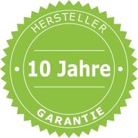 10 Jahre Garantie von Hersteller