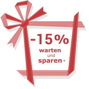 Warten und Sparen 20% Rabatt